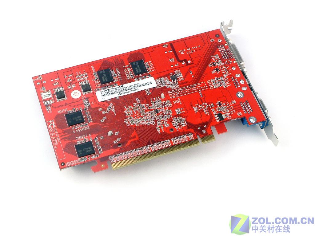 昂达雷霆x550使用了火红色的pcb板,电路板上走线清晰,做工精湛.